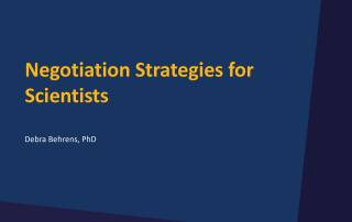 Negotiation Strategies for Scientists